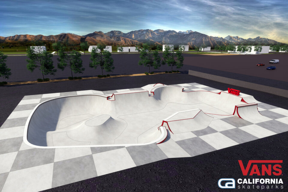 The design of the new built park in Salt Lake City thanks to a partnership with Vans and the Utah Sports Commission.