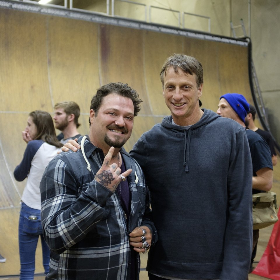 Bam Margera & Tony Hawk  Photo: Ryan Esquibel​</span>