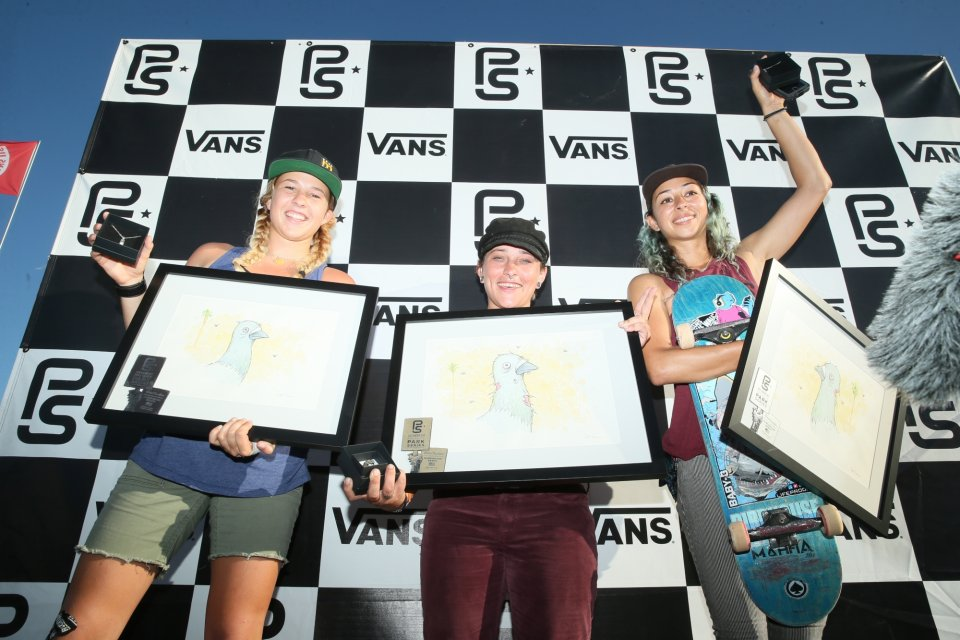 Hanna Zanzi has claimed victory at Huntington Beach for the inaugural Women's Vans Park Series contest  Photo: Anthony Acosta</span>