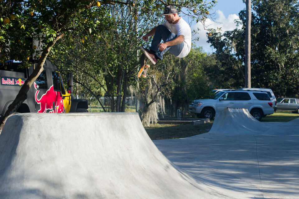 VPS Judge, Kyle Berard, doing a totally biased, bio f/s flip at the Dream Driveway.  Photo: Rob Meronek</span>