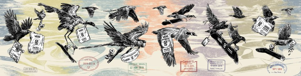 Artist Ben Horton created the 2019 Vans Park Series artwork