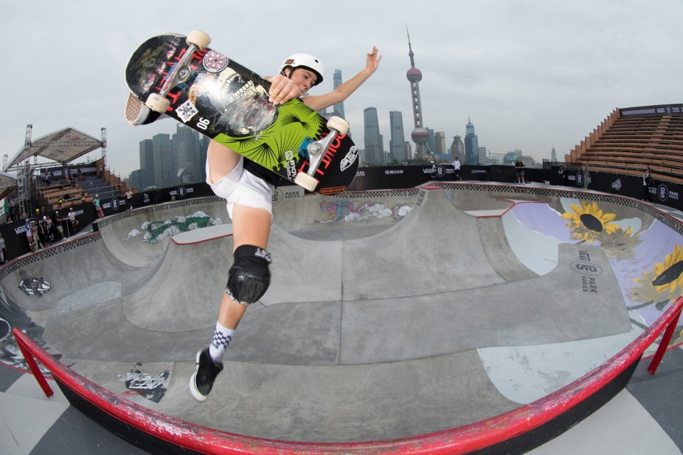 Select Pro Jordyn Barratt at the 2017 VPS World Championships in Shanghai, China  Photo: Anthony Acosta</span>